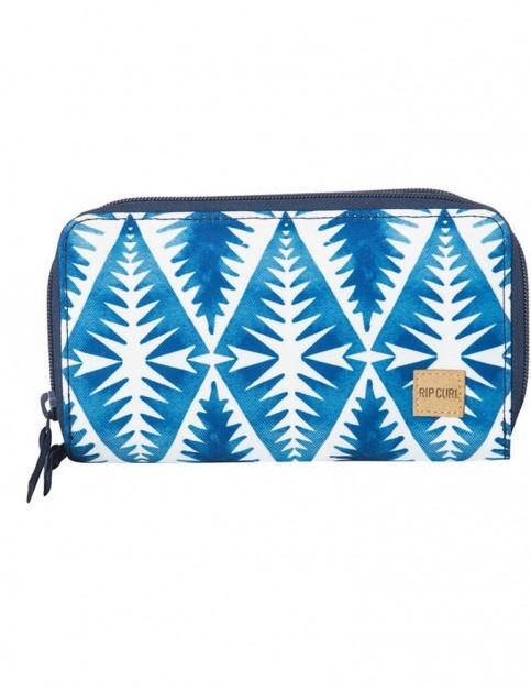 Rip Curl Beach Bazaar Faux Leather Wallet in Blue