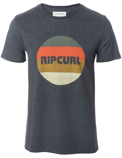 Rip Curl Big Mama Round Logo Short Sleeve T-Shirt in Dark Marl