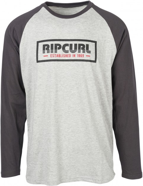 Rip Curl Bigmama Box Long Sleeve T-Shirt in Cement Marle