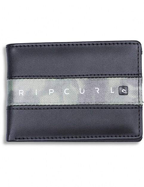 Rip Curl Blockade PU Slim Faux Leather Wallet in Green