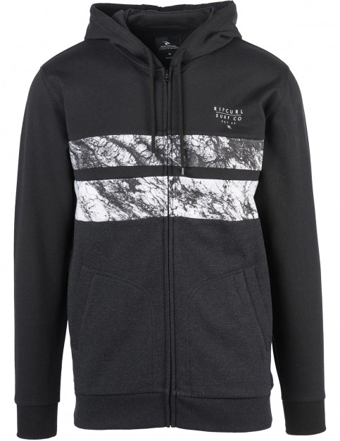 Rip Curl Blocking Surf Zipped Hoody in Black