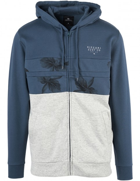 Rip Curl Blocking Surf Zipped Hoody in Midnight Navy