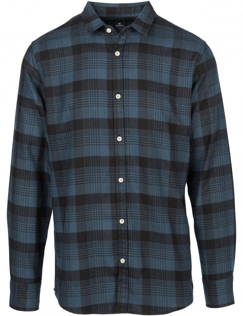 Rip Curl Bloke Long Sleeve Shirt in Midnight Navy