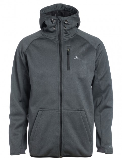 Rip Curl Bonded Fleece Jacket in Charcoal Marle