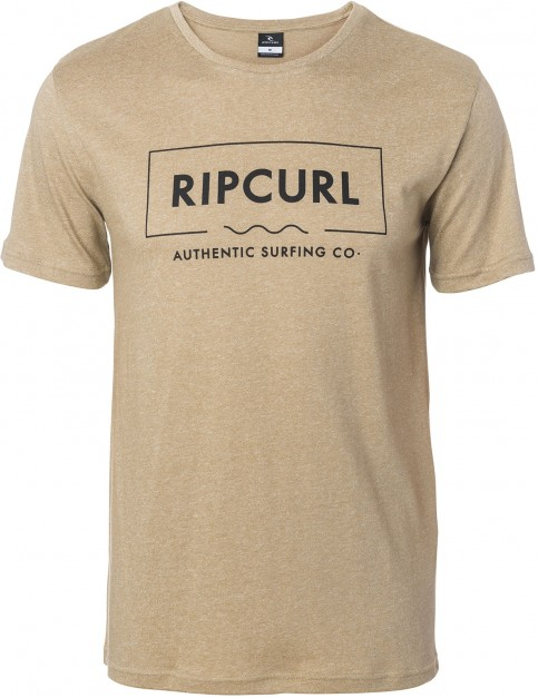 Rip Curl Broken Angle Tee Short Sleeve T-Shirt in Lead Grey