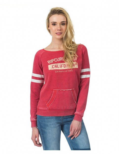 Rip Curl Broome Fleece Sweatshirt in Vintage Red