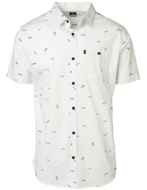 Rip Curl Busy Surf Day Short Sleeve Shirt in Optical White