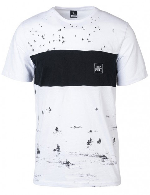 Rip Curl Busy Surf Day Short Sleeve T-Shirt in Optical White