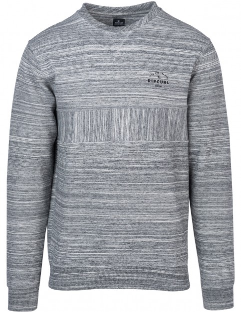 Rip Curl Captain Crew Sweatshirt in Pewter Grey Marle