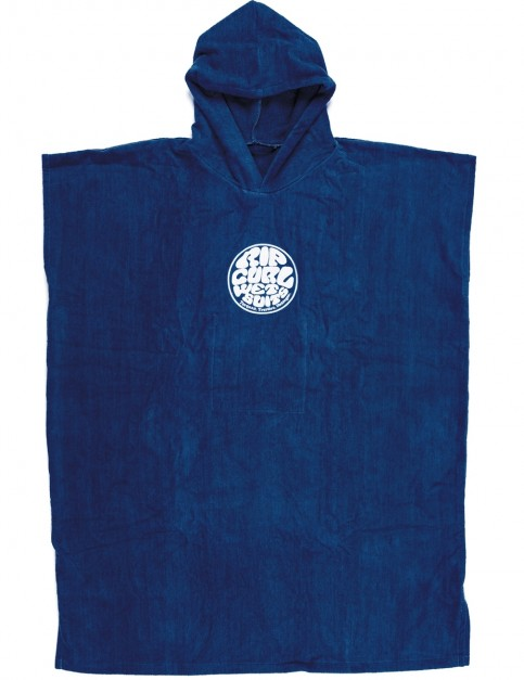 Rip Curl Change Poncho Hooded Towel in Nautical Blue