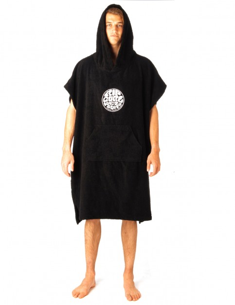 Rip Curl Change Poncho Towel in Black