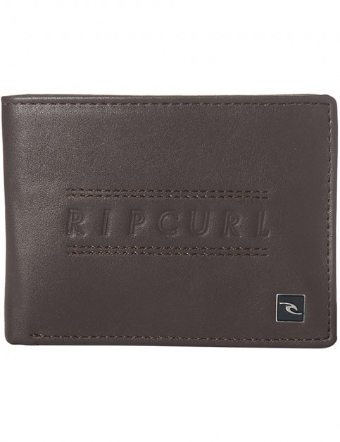 Rip Curl Classic PU All Day Faux Leather Wallet in Brown