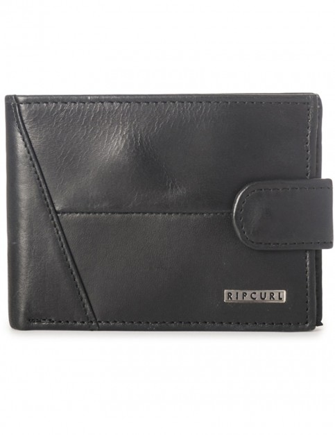 Rip Curl Clean Clip RFID All Day Leather Wallet in Black