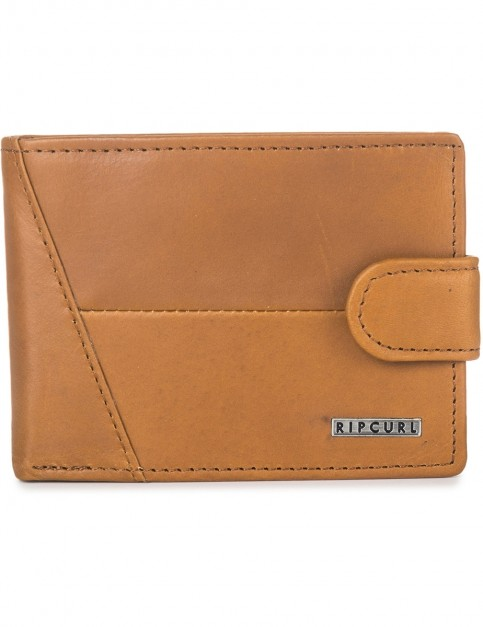 Rip Curl Clean Clip RFID All Day Leather Wallet in Tan