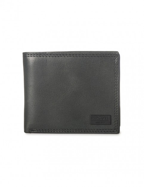 Rip Curl Clean RFID Leather Wallet in Black