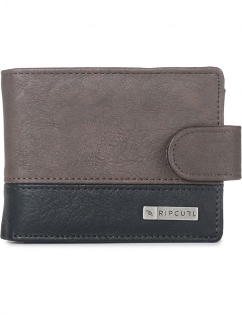 Rip Curl Clip PU All Day Faux Leather Wallet in Brown