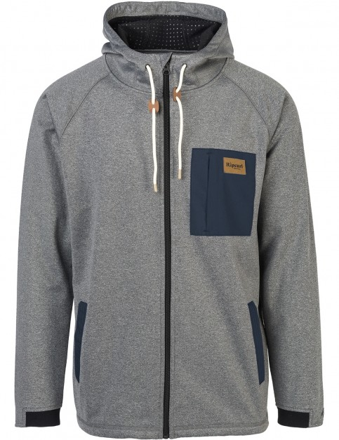 Rip Curl Dawn Line Anti-Series Full Zip Fleece in Charcoal Marle