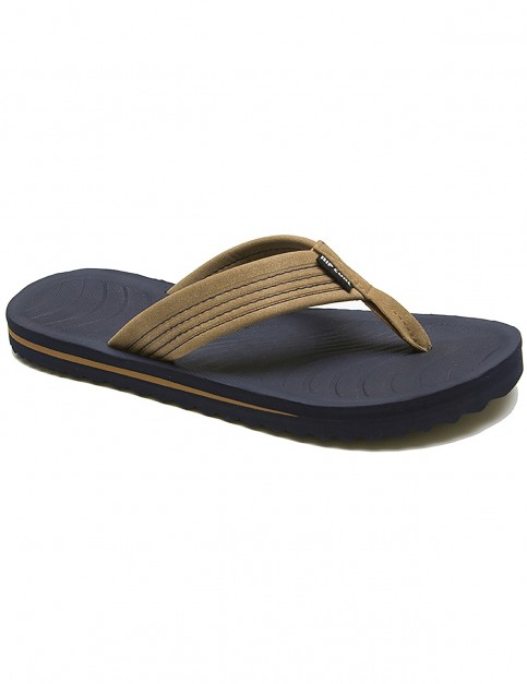 Rip Curl DBAH Flip Flops in Tan / Blue
