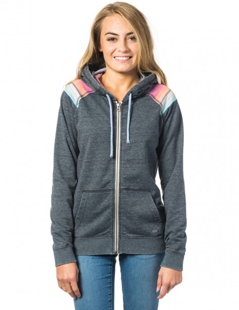 Rip Curl Del Sol Zipped Hoody in Black