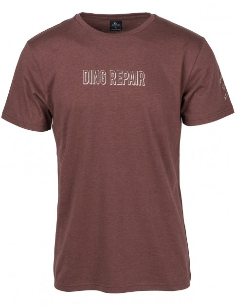 Rip Curl Ding Chest Short Sleeve T-Shirt in Brown