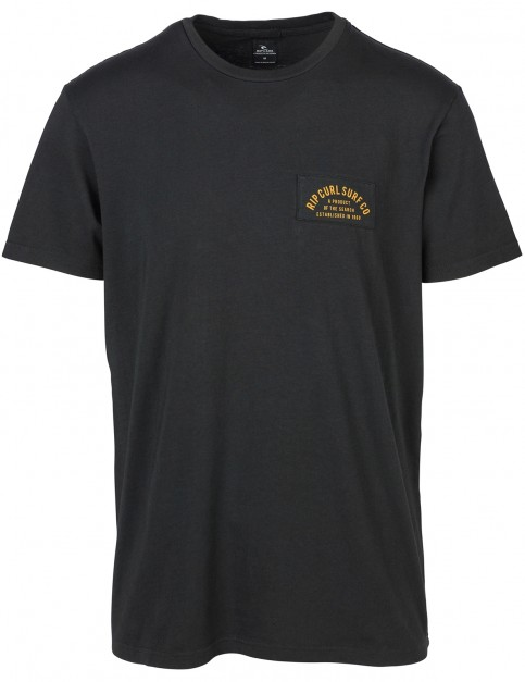 Rip Curl Dingrepair Short Sleeve T-Shirt in Black