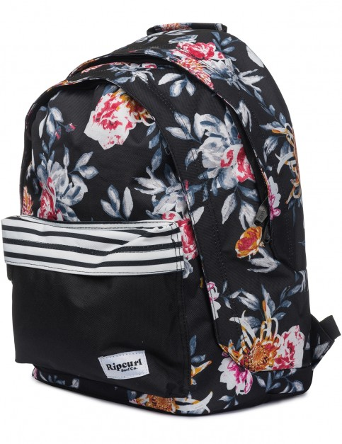 Rip Curl Double Dome Desert Flower Backpack in Black