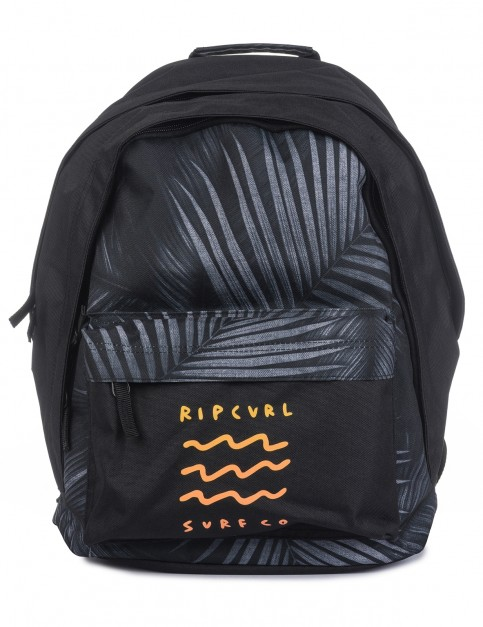 Rip Curl Double Dome Glow Wave Backpack in Black