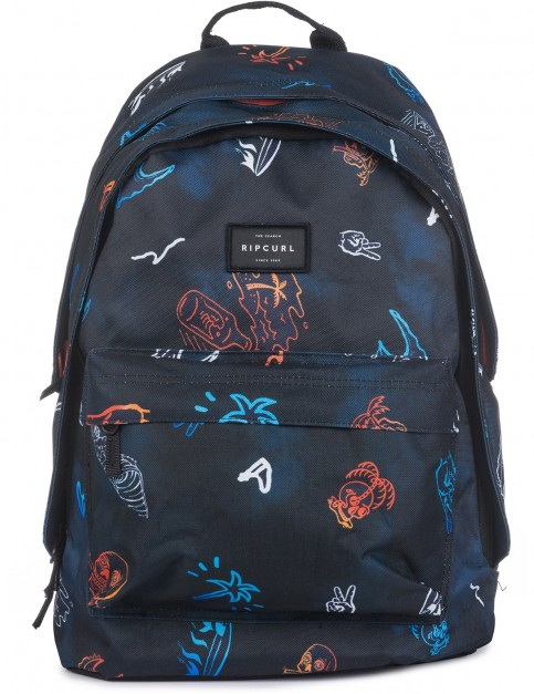 Rip Curl Double Dome Tropicana Backpack in Navy