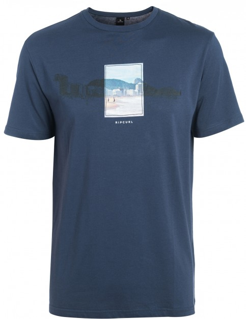 Rip Curl Double Frame Short Sleeve T-Shirt in Total Eclipse