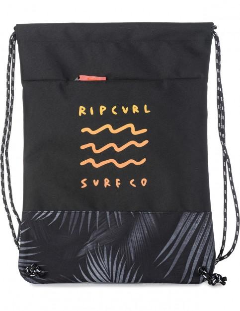 Rip Curl Drawcord Glow Wave Gym Bag in Black