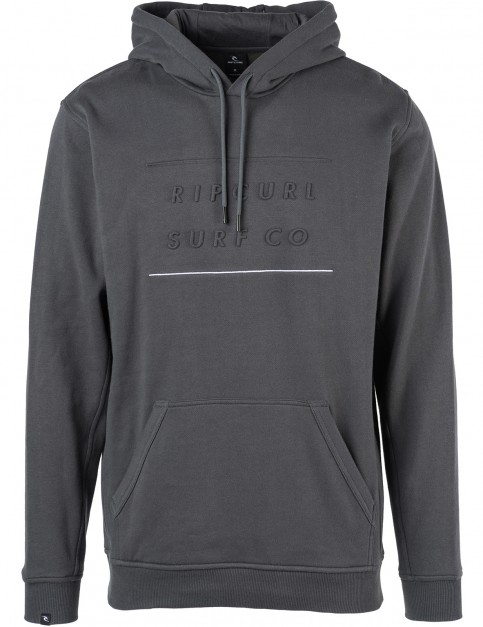 Rip Curl Embossed Surf Pullover Hoody in Charcoal