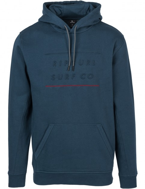 Rip Curl Embossed Surf Pullover Hoody in Midnight Navy