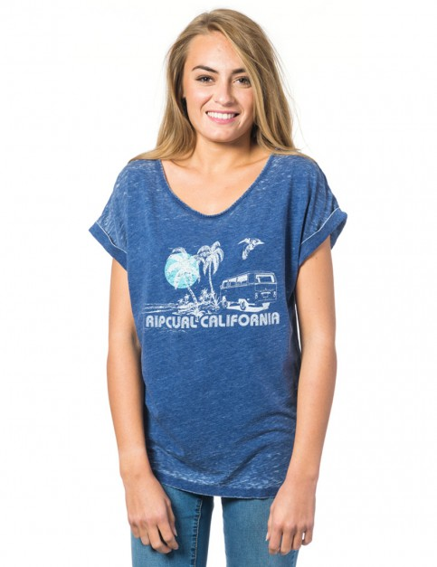 Rip Curl Encanto Short Sleeve T-Shirt in Blue Depths