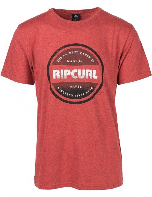 Rip Curl Essential Bigmama Short Sleeve T-Shirt in Baked Apple Mar