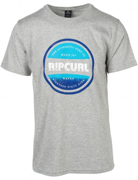 Rip Curl Essential Bigmama Short Sleeve T-Shirt in Cement Marle