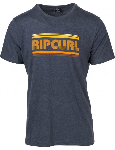 Rip Curl Essential Bigmama Short Sleeve T-Shirt in Mood Indigo Mar