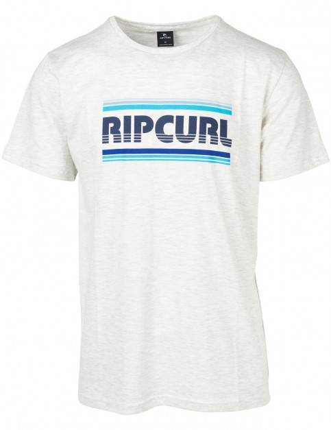 Rip Curl Essential Bigmama Short Sleeve T-Shirt in Optical White Marle