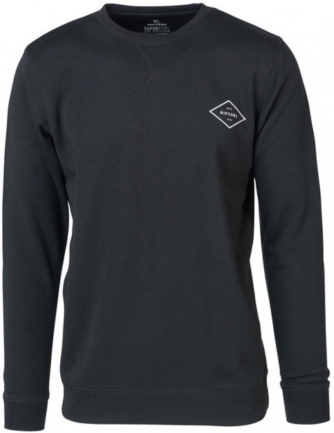 Rip Curl Essential Surfers Crew Sweatshirt in Black