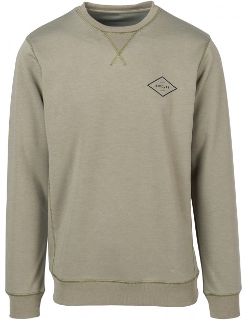 Rip Curl Essential Surfers Crew Sweatshirt in Green