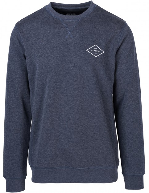 Rip Curl Essential Surfers Crew Sweatshirt in Night Sky Marle