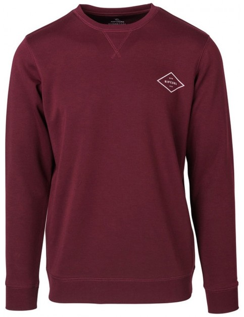 Rip Curl Essential Surfers Crew Sweatshirt in Twany Port