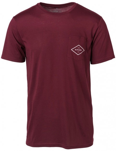 Rip Curl Essential Surfers Short Sleeve T-Shirt in Twany Port