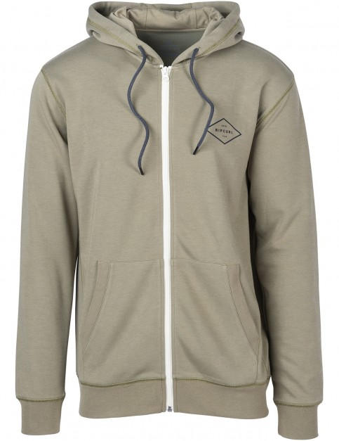 Rip Curl Essential Surfers Zipped Hoody in Green