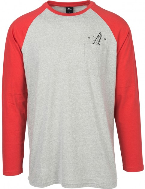 Rip Curl Flagraglan Long Sleeve T-Shirt in Cement Marle
