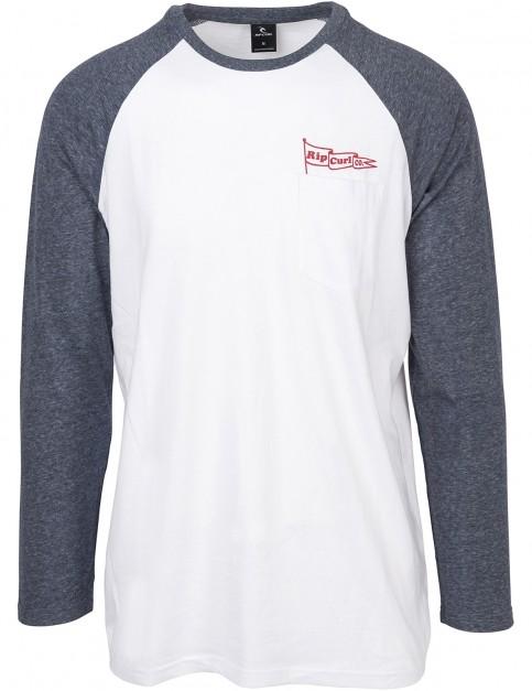 Rip Curl Flagraglan Long Sleeve T-Shirt in Optical White