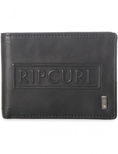 Rip Curl Free RFID All Day Leather Wallet in Black