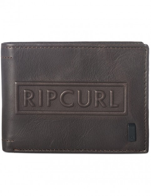 Rip Curl Free RFID All Day Leather Wallet in Brown
