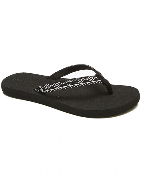 Rip Curl Freedom Flip Flops in White / White / Black