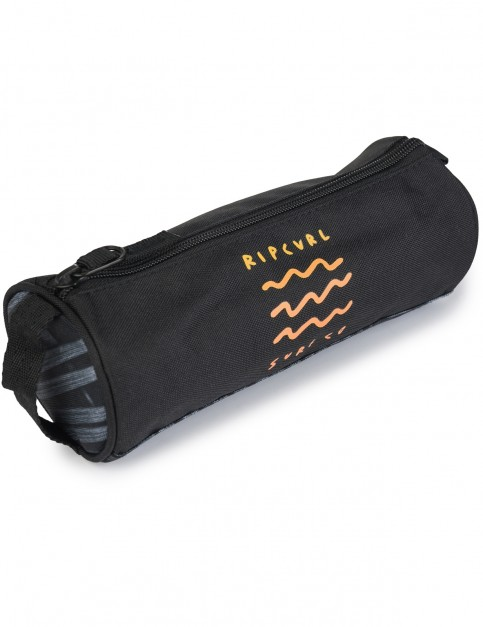 Rip Curl Glow Wave Pencil Case in Black