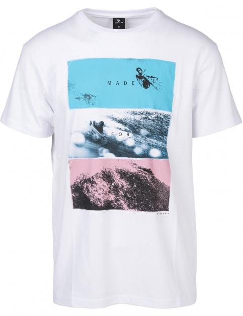 Rip Curl Good Day / Bad Day Short Sleeve T-Shirt in Optical White